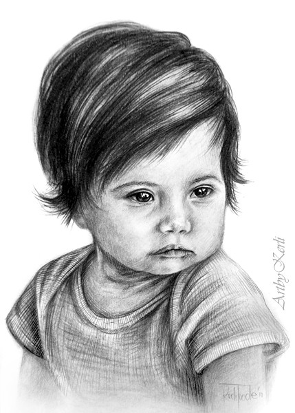 Little girl | Pencil drawing on A5, year 2010. | By: abkkkk ...