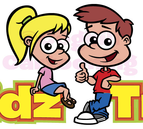 Cartoon Characters For Kids : Cartoon kids characters for a logo project