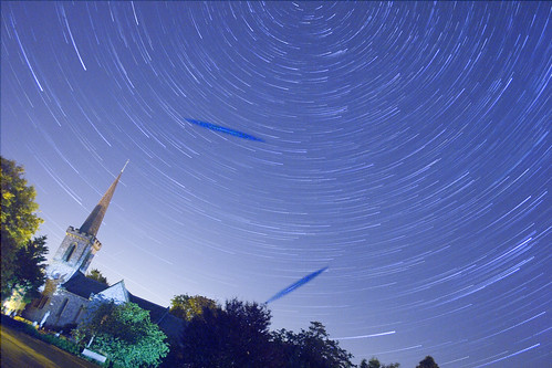 Stellar Swirl and Perseid Meteors over Stanmer Church | by Dominic's pics