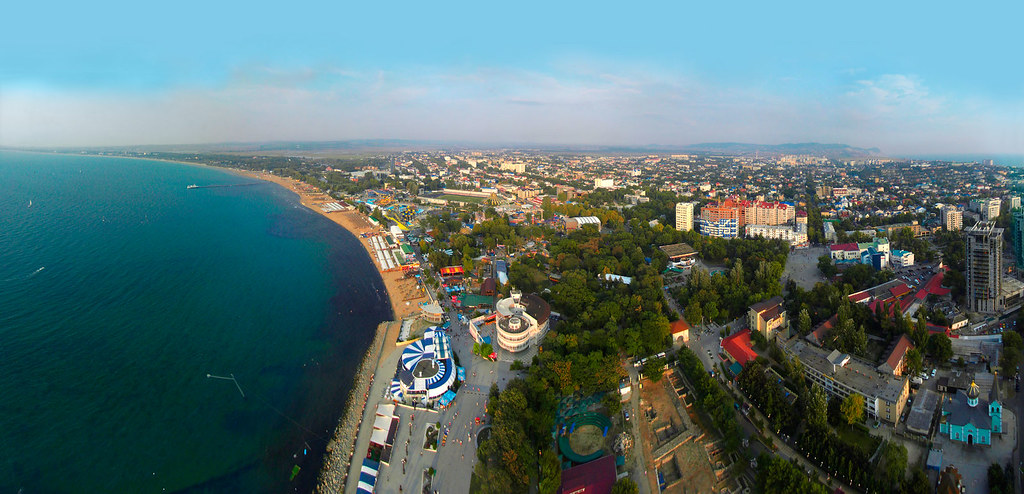 Anapa Russia  city photos gallery : Anapa, Russia. | Photos taken with a kite Rokkaku 7. Panoram ...