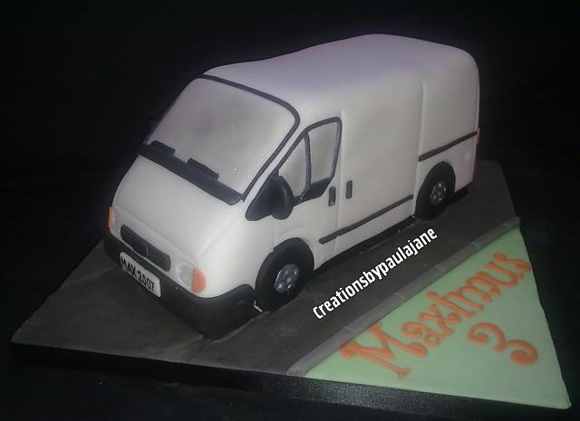Transit Van Birthday Cake