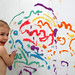 Fun With Puffy Paint in the Tub