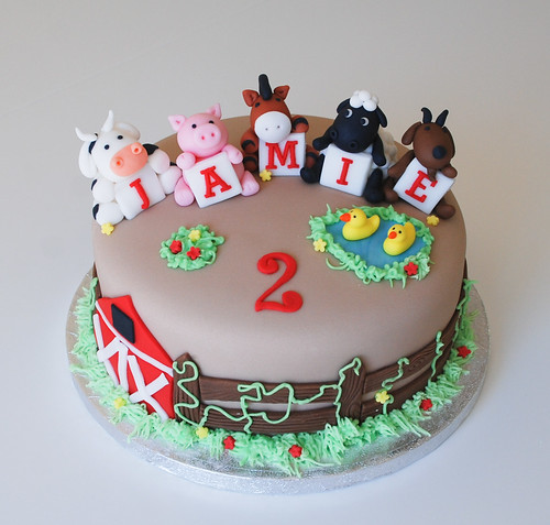 Barn Animal Cake Toppers