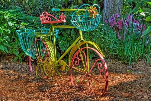 Garden bicycle in a garden in williamsburg va jerry for Funky garden designs