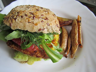Veggie Burger and Fries at Home | by veganbackpacker