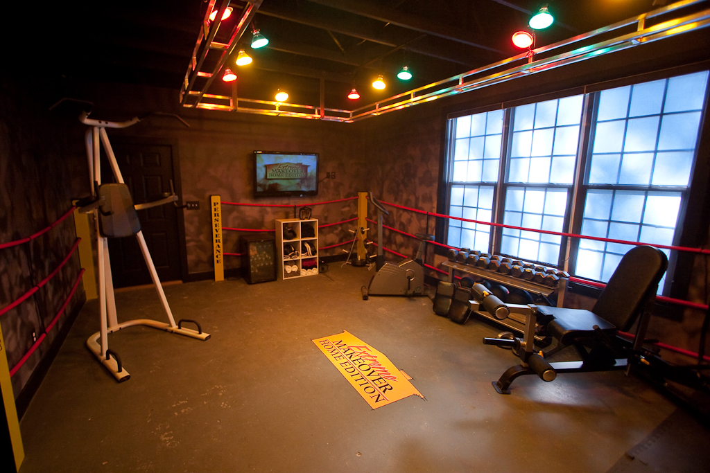 Boxing Ring Workout Room | Our upholstery shop went all ...