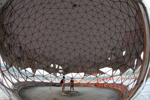 Mike and Gem in the Teufelsberg dome | by Matt Biddulph