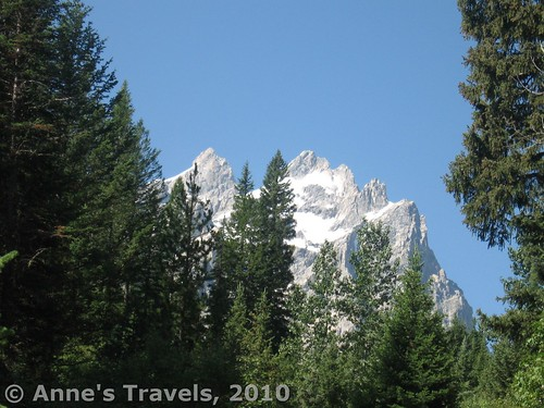 The Tetons from the Horse Trail en route to Cascade Canyon, Grand Teton National Park, Wyoming