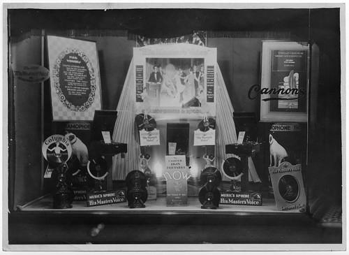 hmv 363 Oxford Street, London - Mixed window display 14th May 1929