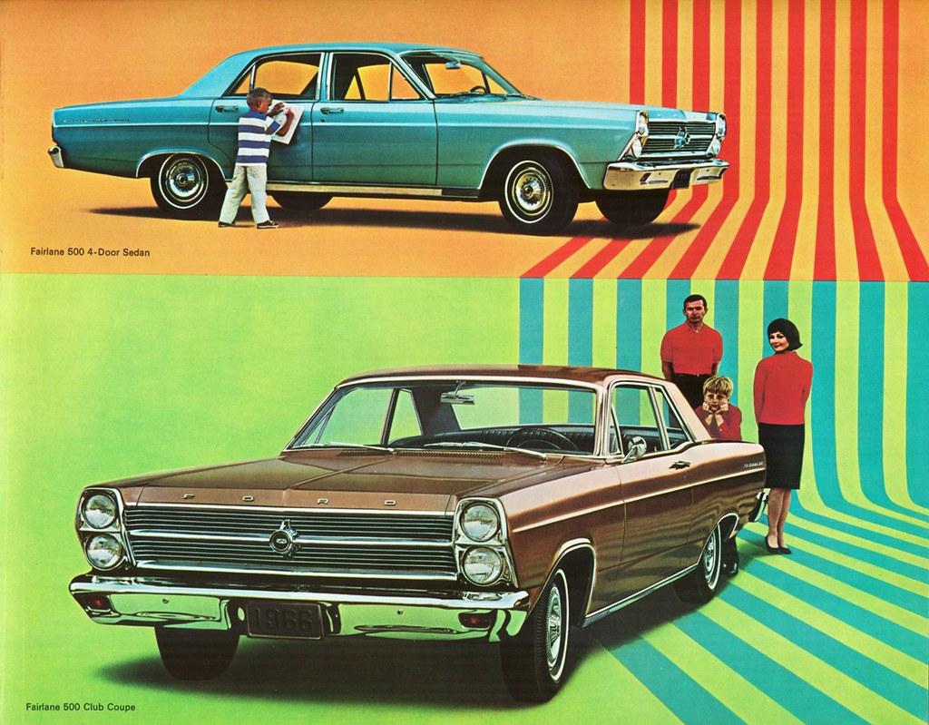 1966 Ford Fairlane 500 4 Door Sedan Club Coupe