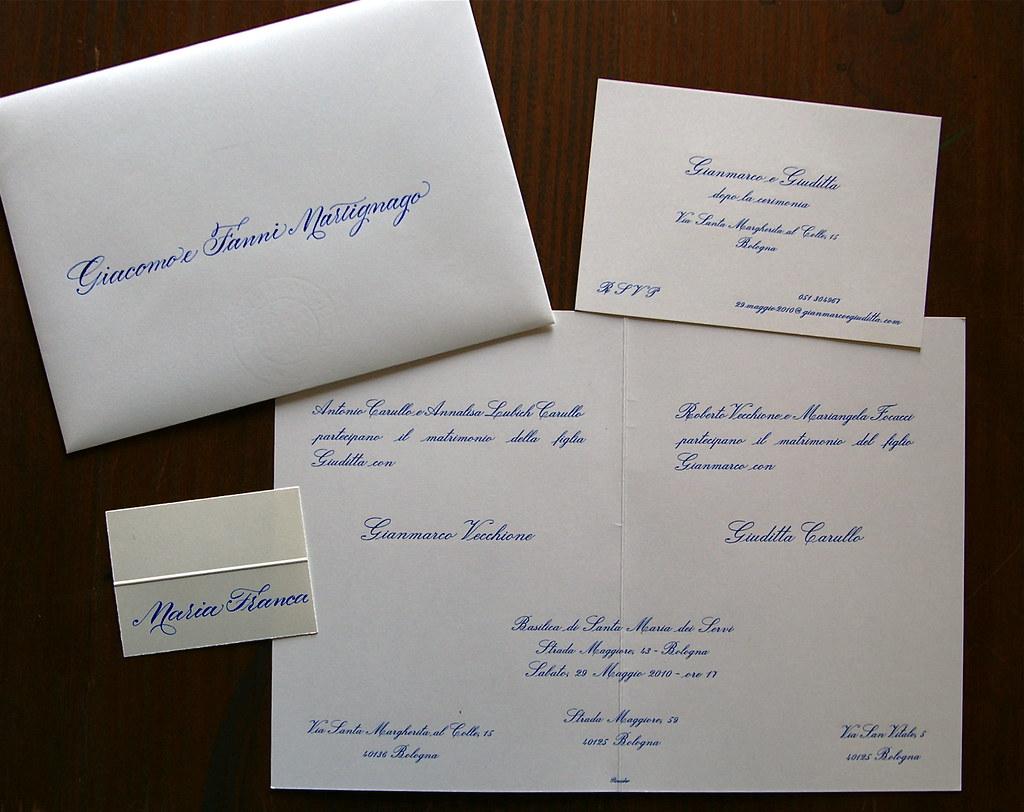 Busta Matrimonio Toscana : Wedding invitation partecipazioni di nozze acrylic blue