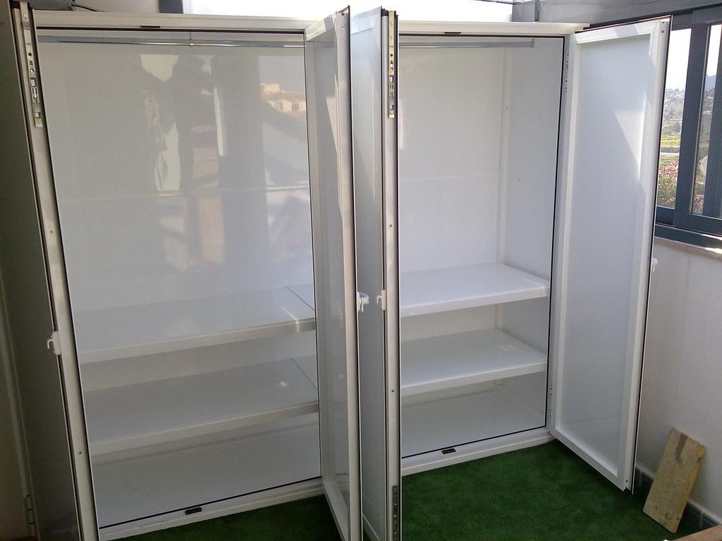 armario de aluminio para exterior abierto armario de