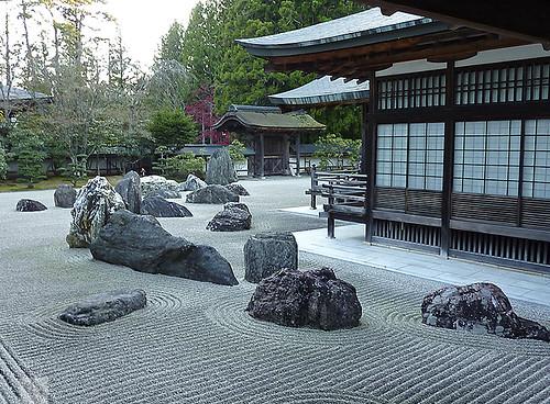 Dry japanese garden buddhist monastery koya san japan for Free japanese garden designs
