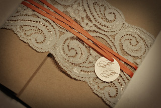 Lace/Recycled Wedding Invitations | by aus_chick