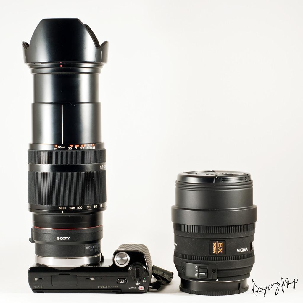 NEX-5 + LA-EA1 + SAL18200 | Image I made for the icon of the