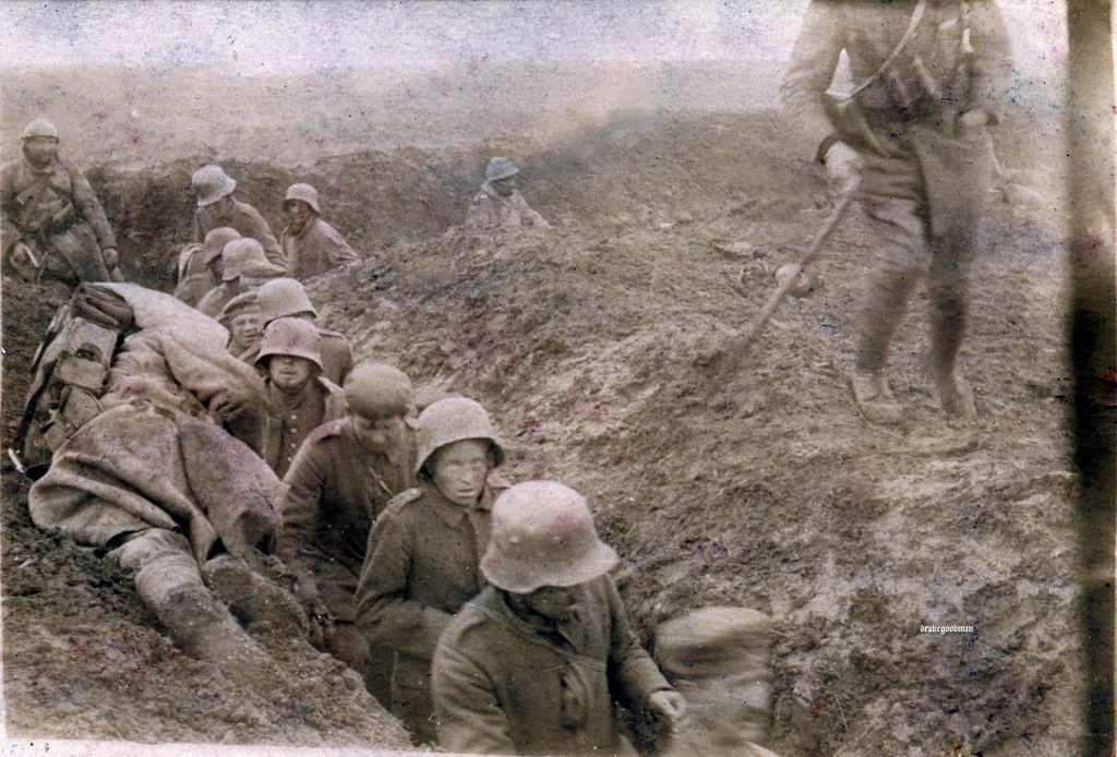 Nervous And Beleaguered German Troops File Past The Body O Flickr
