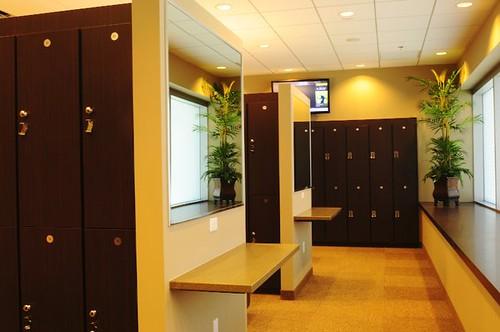Cityscape locker room gold s gym upscale