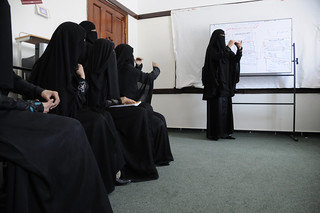 Women receive training at a computer class at the Association for the Welfare and Rehabilitation of Deaf and Dumb | by World Bank Photo Collection