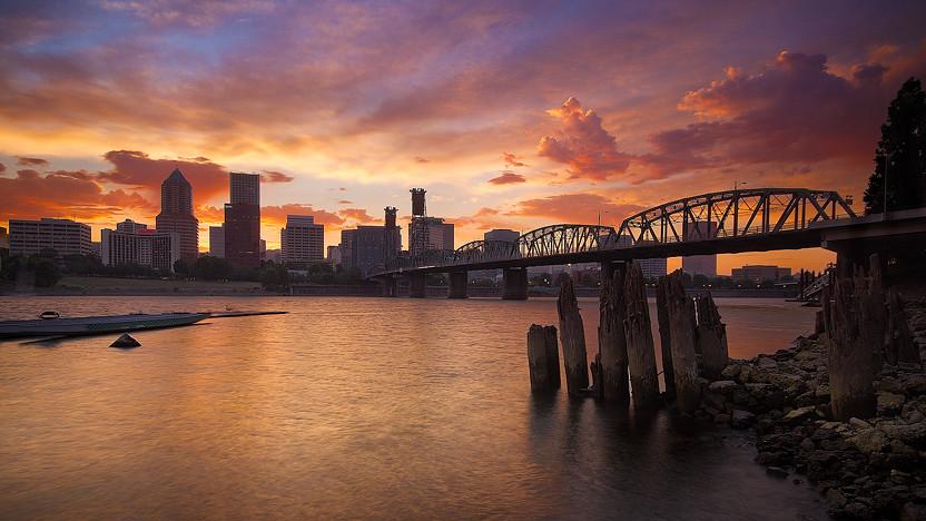Vivid portland sunset since i moved here over 5 years - Camera world portland ...