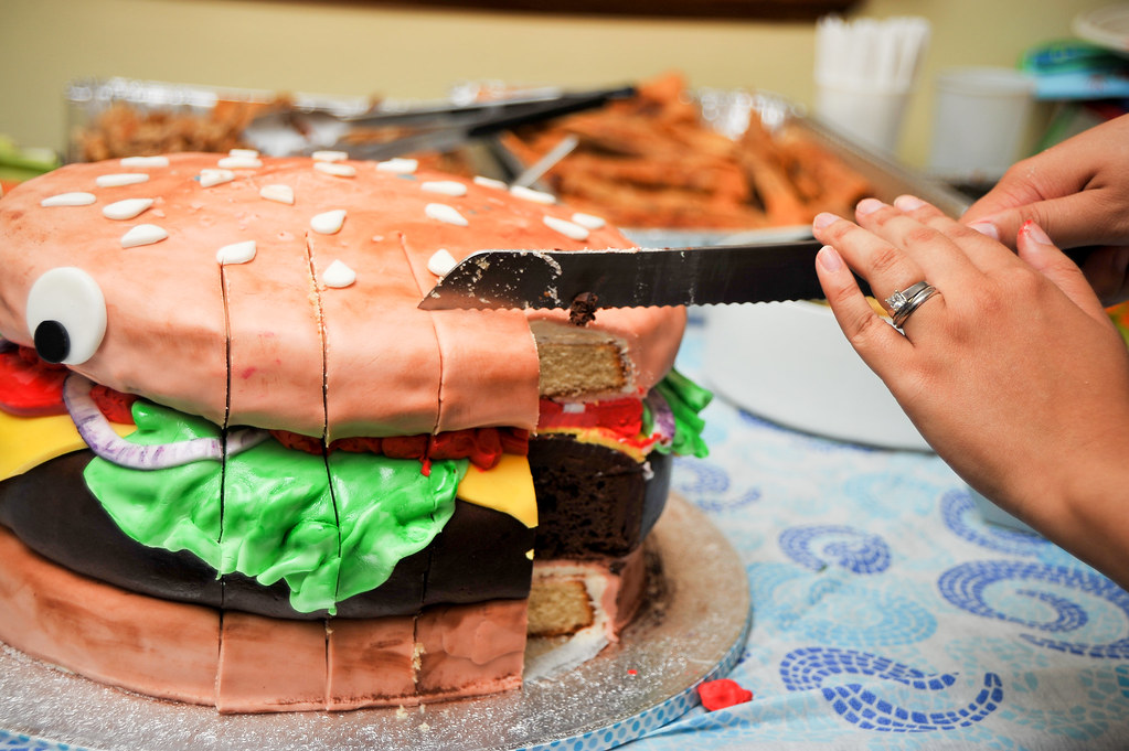 McDeckards 1st Birthday Cheeseburger Cake