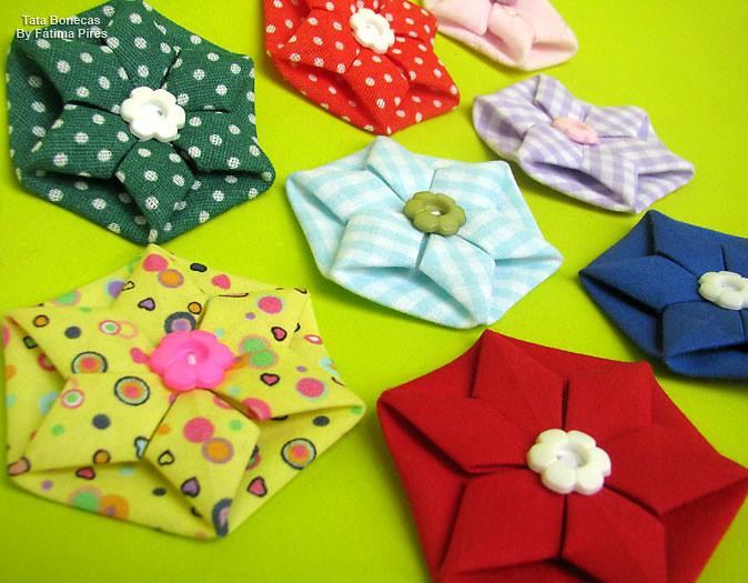 Artesanato De Palha Historia ~ Fuxico Origami Passo a passo no You tube por Ane Matos w u2026 Flickr