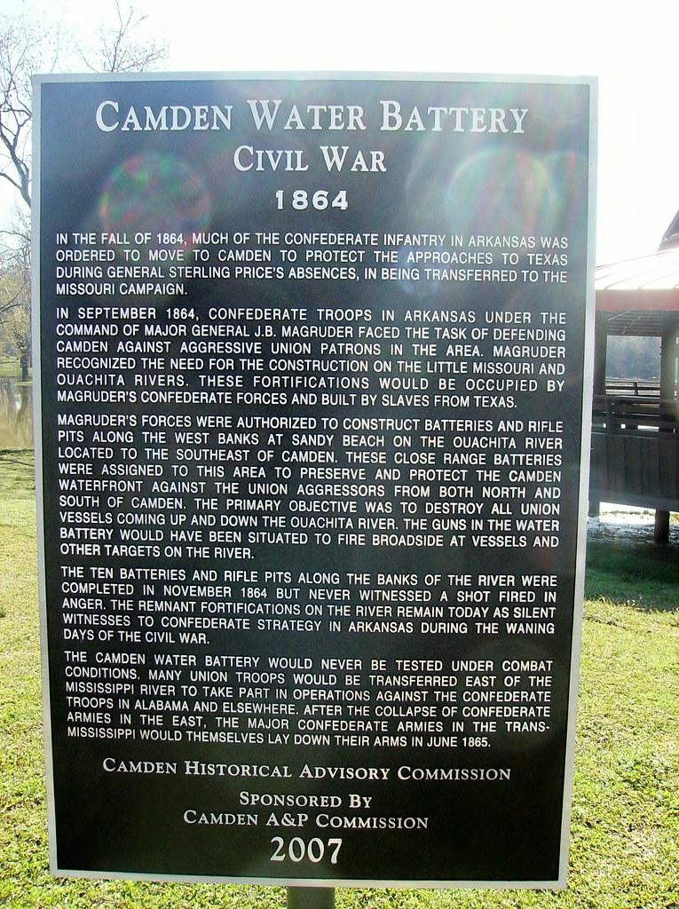 Camden Water Battery Historical Marker Sandy Beach