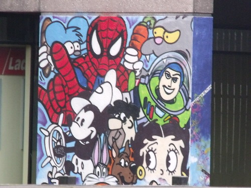 Paradise Place and Paradise Circus - Spider-Man, Buzz Lightyear etc | by ell brown