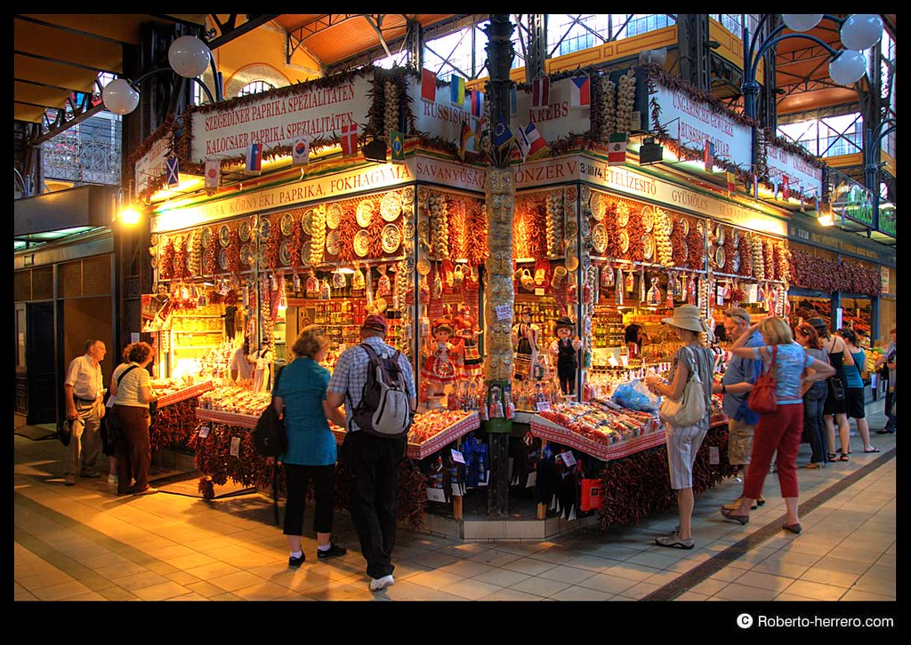 Greengrocery of vasarcsarnok market hall budapest hung - Roberto herrero ...