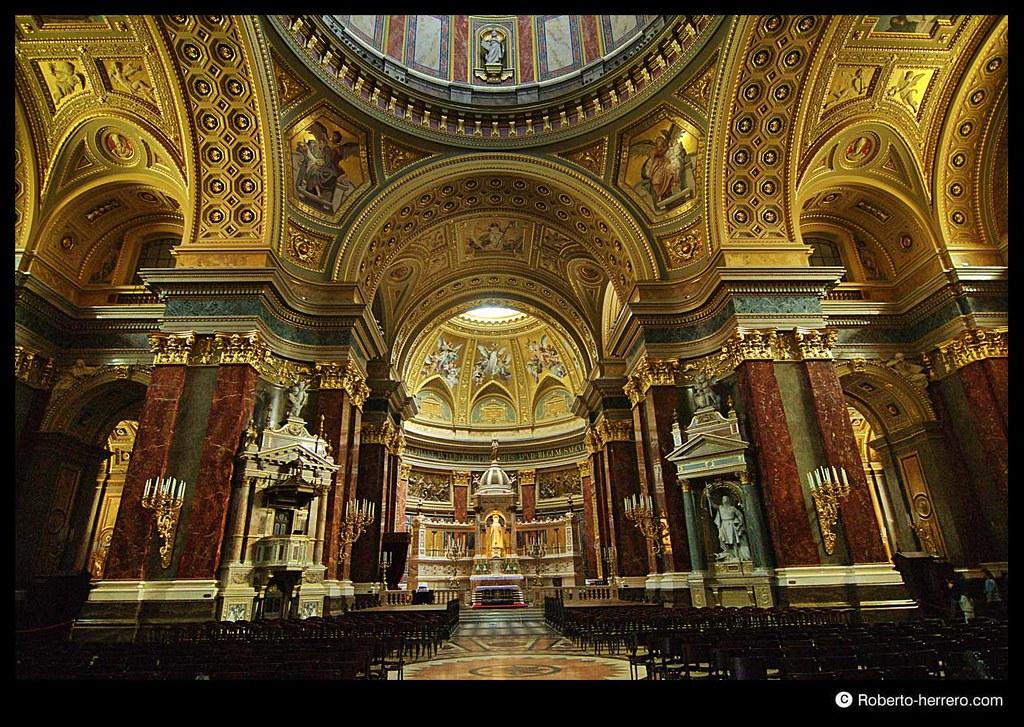 Interior of saint stephen 39 s basilica budapest hungary - Roberto herrero ...