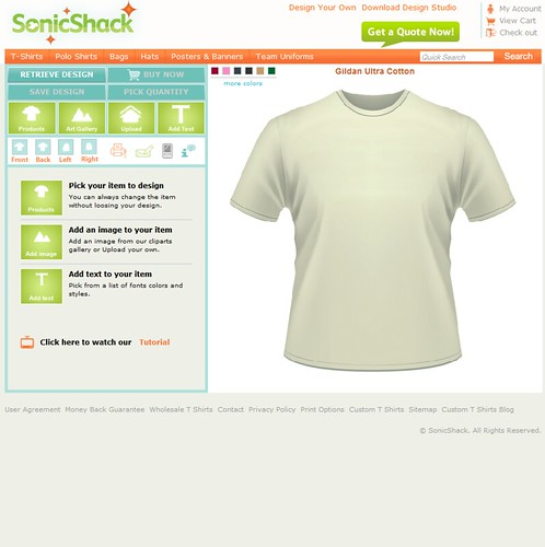 Custom t shirt design software and application tool by cbs for Custom t shirt software