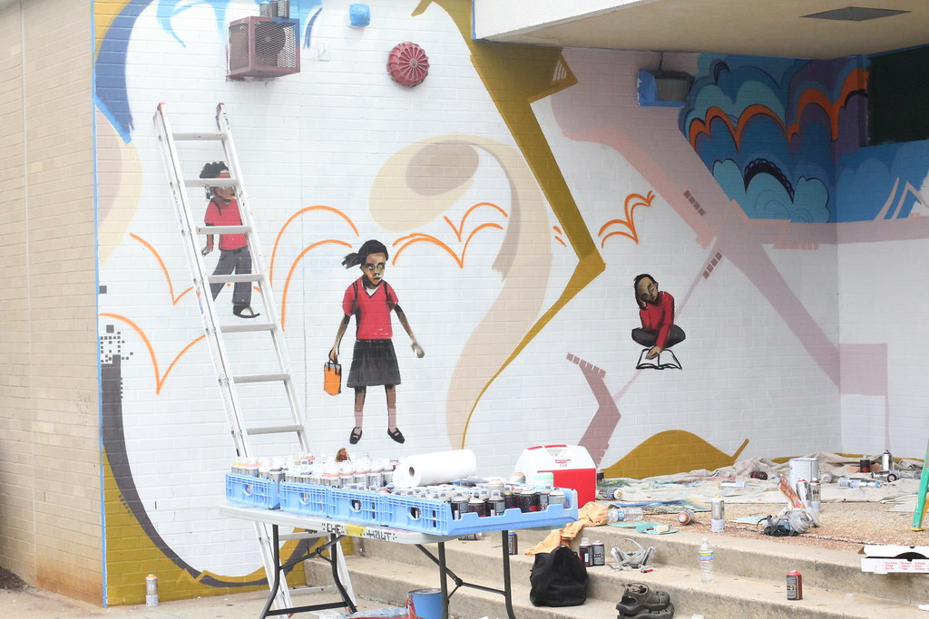 Malcolm X Elementary School Mural Created Through The