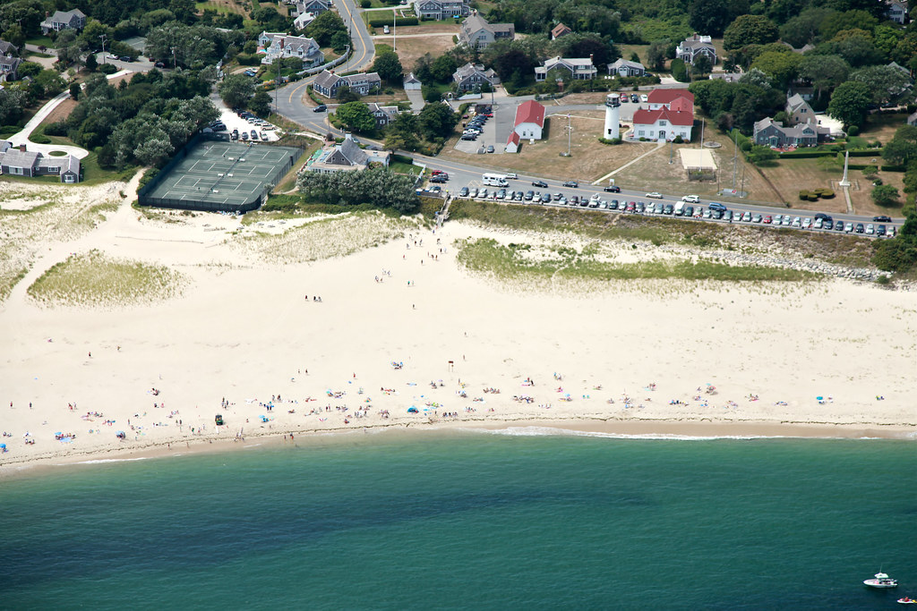 Chatham Lighthouse Beach Aerial Shark Hunting On August
