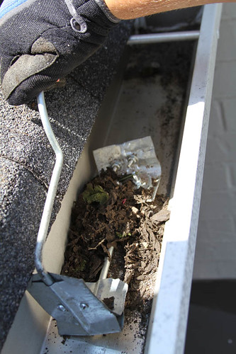 Gutter Cleaned With Tool There Is No Special Secret To
