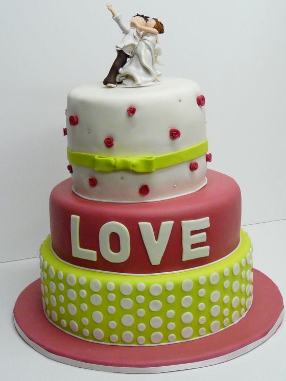 Hochzeitstorte Love Grun Pink Www Suess Und Salzig De Flickr