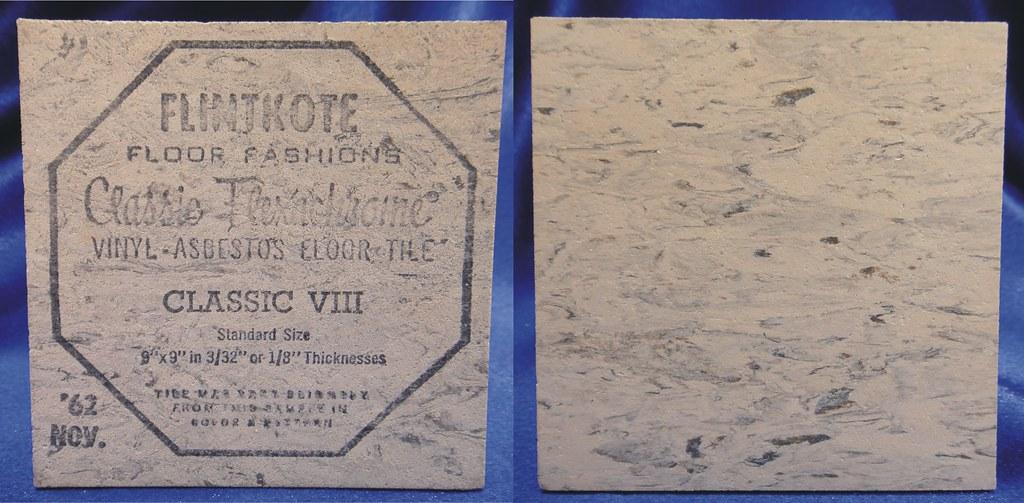 Flintkote VinylAsbestos Floor Tile ClassicVIII Visual Re Flickr - Vinyl asbestos floor tile