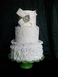 Couture Wedding Cake | by sandrascakes