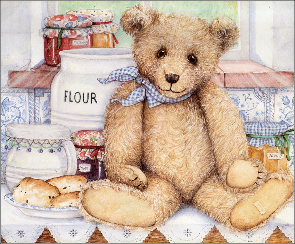 Baking Teddy This Is From A Calandar I Had A Few Years