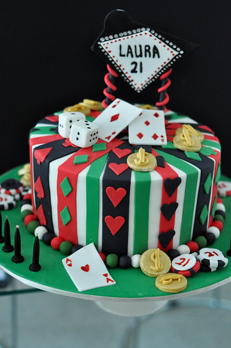 Vegas Themed Cake Toppers