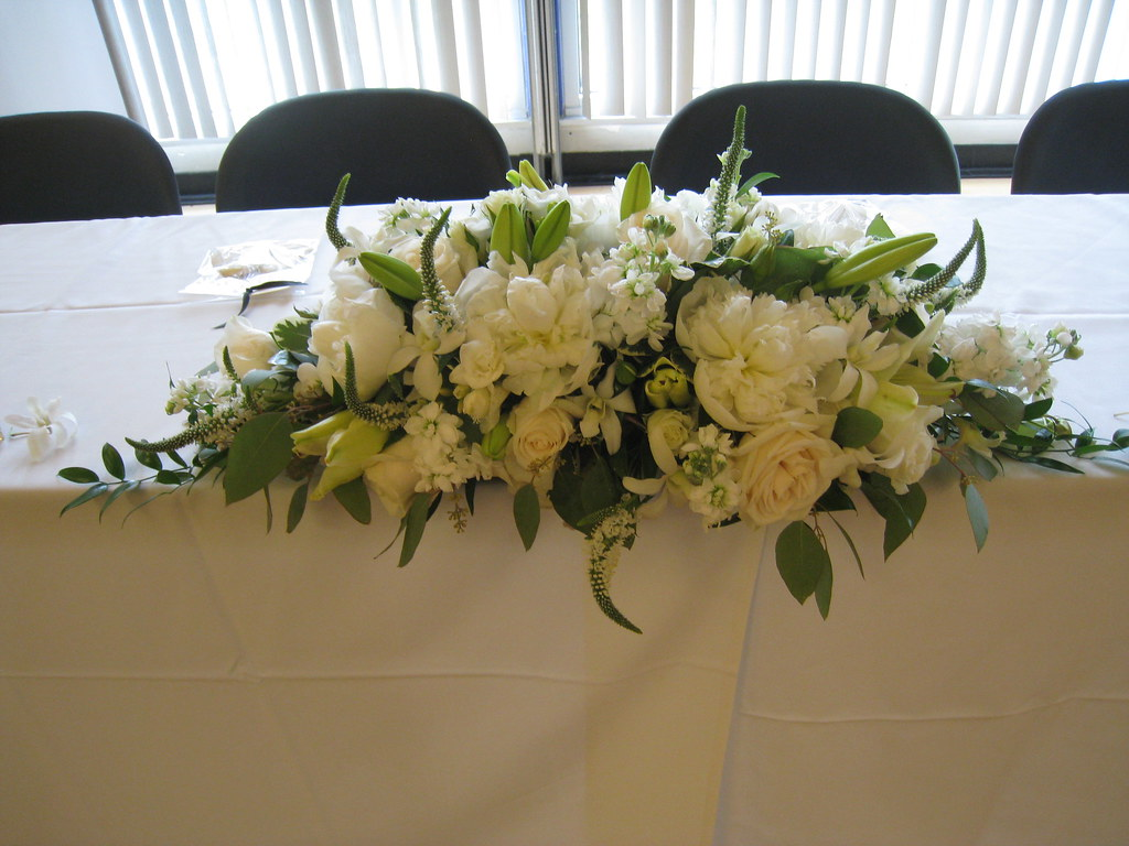 Head table centerpiece beautiful long for