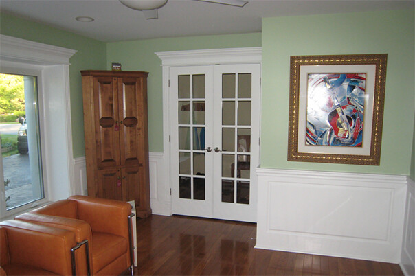 Wainscoting America Raised Panels Living Room One Piece
