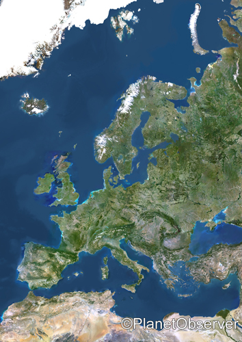 Europe - Satellite image - PlanetObserver | by PlanetObserver