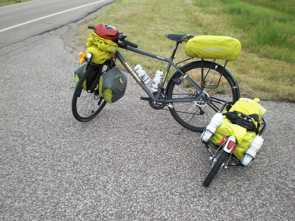 Fully Loaded Touring Bicycle Photos