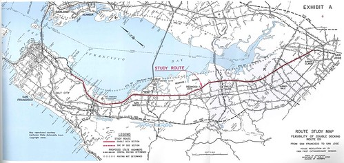 Double Deck Us 101 Route Study Map 1966 By Eric Fischer