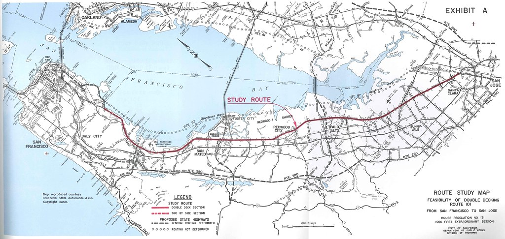 Double Deck US 101 Route Study Map 1966 Preliminary Stu Flickr