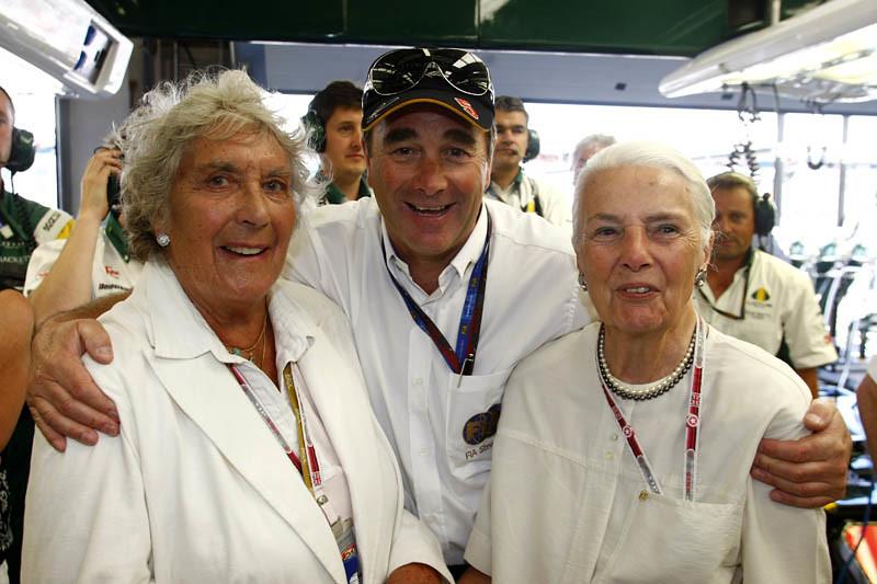 Bette Hill Nigel Mansell And Hazel Chapman 2010 British