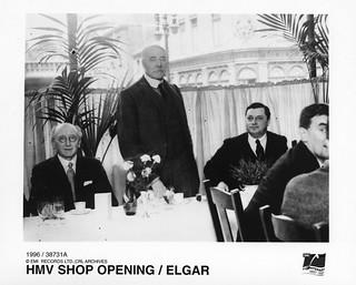 hmv 363 Oxford Street, London - Store opening: speech by Sir Edward Elgar - July 1921