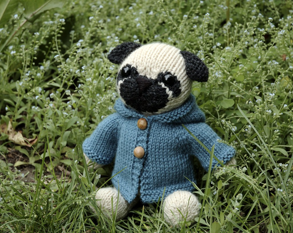 pug custom knit toy. You can find out more here: www.ravel? Flickr