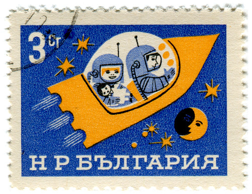 Bulgaria postage stamp: space ship | by karen horton