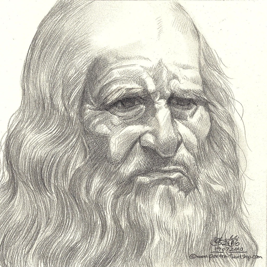 pencil portrait of leonardo da vinci website www. Black Bedroom Furniture Sets. Home Design Ideas