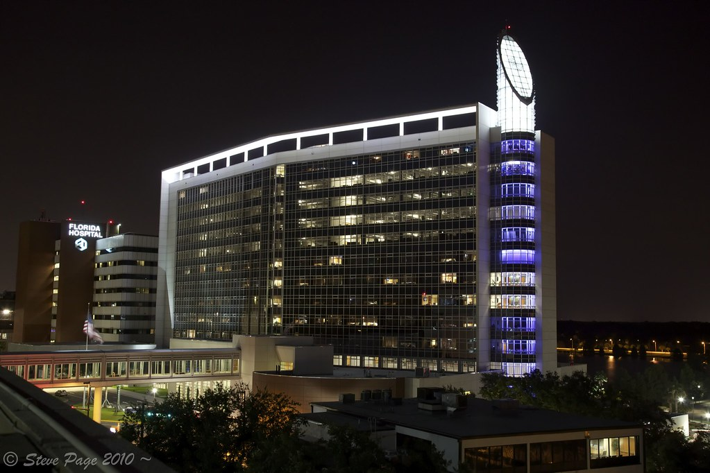 ~ Florida Hospital At Night ~ | This is a new wing that ...